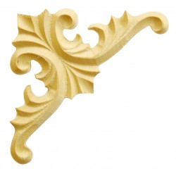 Carved corner moulding