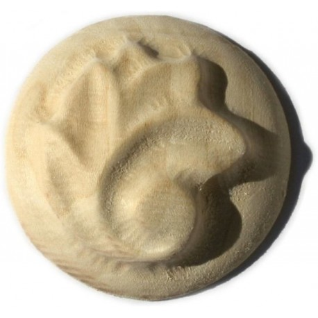 Carved ornament, wooden rosette