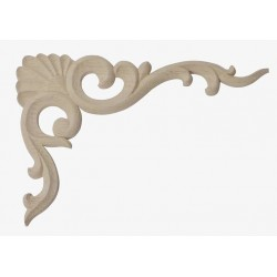 Wooden corner applique