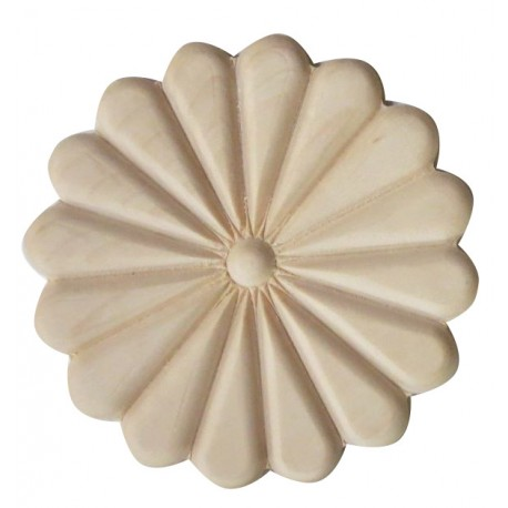 Wooden carved rosette, onlay