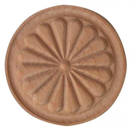 Rosette wooden carving ornament, moulding