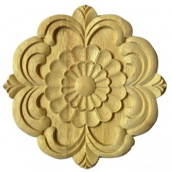 Rosette wooden appliquation, ornament