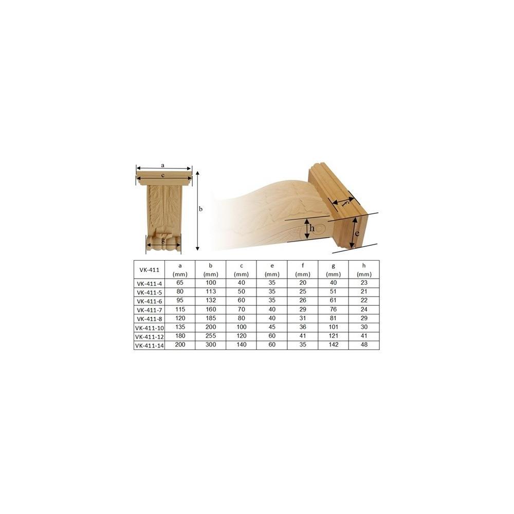 Dřevěná ozdoba s motivem květ