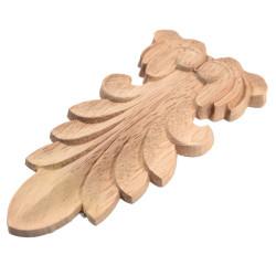 Rosette from hardwod, ornament