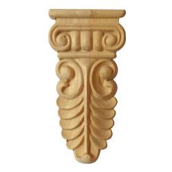Carved wooden moulding, rosette