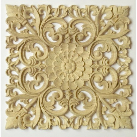 Carved wooden moulding, rosette