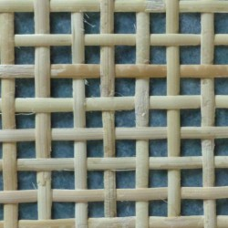 Cane webbing for radiator cover