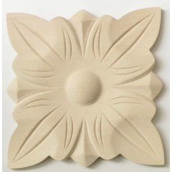 Acanthus leafy wooden ornament, carving