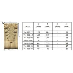 Wood carving ornament, rosette
