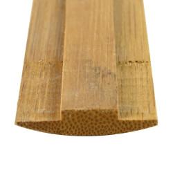 Thin wooden trellis from beech slats