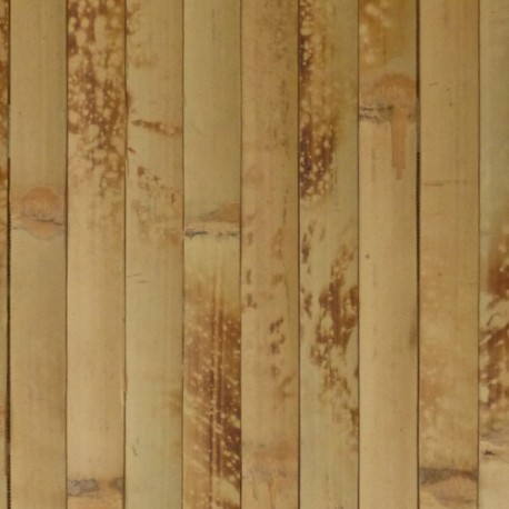 Natural bamboo wallpaper in yellow brown colour
