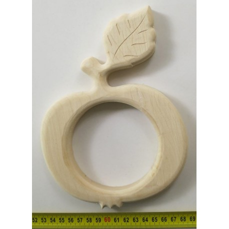 Carved wooden apple, ornament