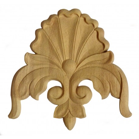 Carved wooden ornament, rosette