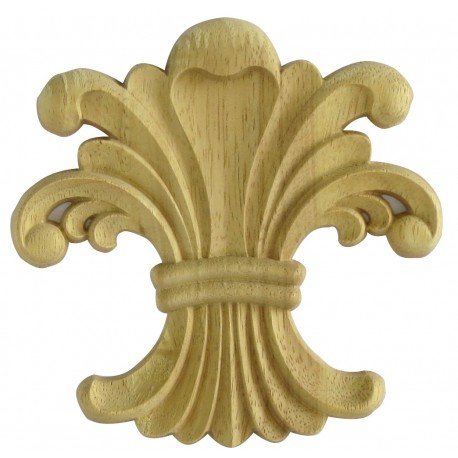 Furniture ornament wood, rosette