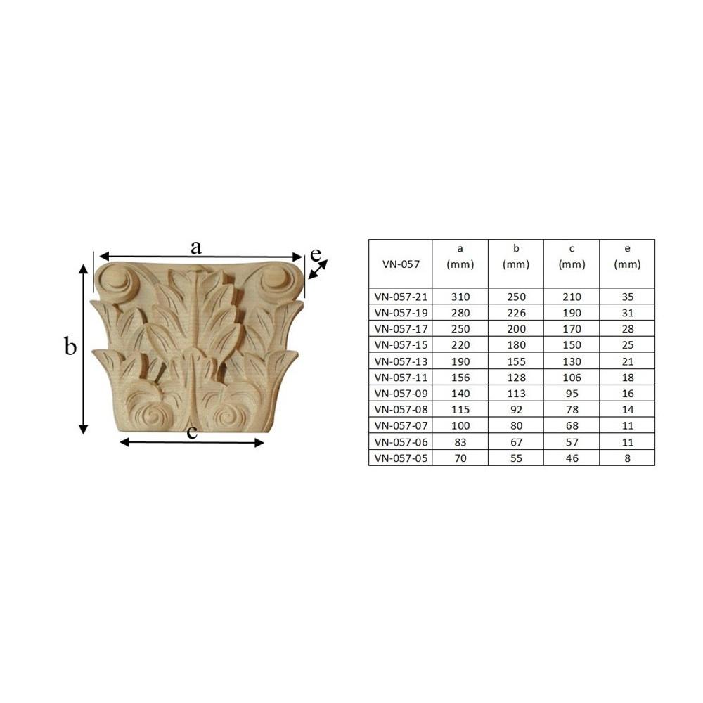 Dřevěný ornament gotického charakteru