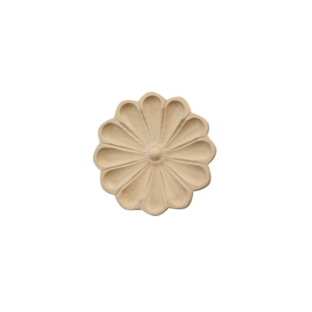 Dřevěný ornament s motívem lalie