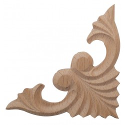 Wooden carved corner ornament