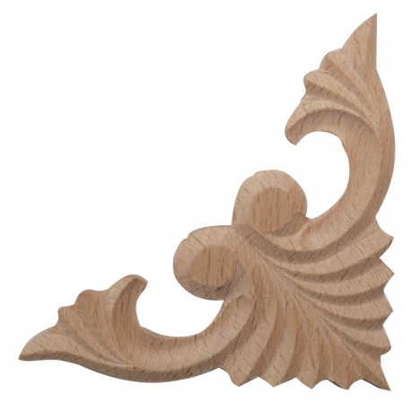 Carved wooden corner ornament