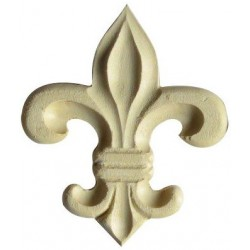 French lily woodcarving