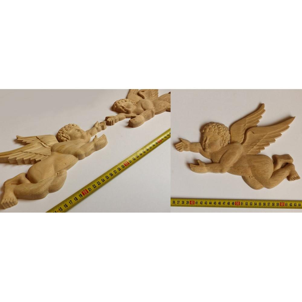Dřevěný ornament ve tvaru lalie