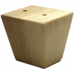 Truncated pyramid shape wooden legs for furniture