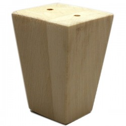 Wooden legs for furniture 90mm truncated pyramid