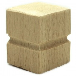 Wooden feet for furniture in cube form