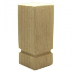 Square column shape wooden legs for furniture 100mm high
