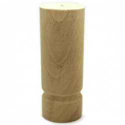 Cylindrical wooden furniture feet
