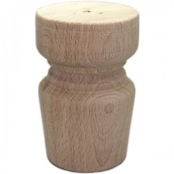 Wooden cylindrical cabinet leg AS-DN-07
