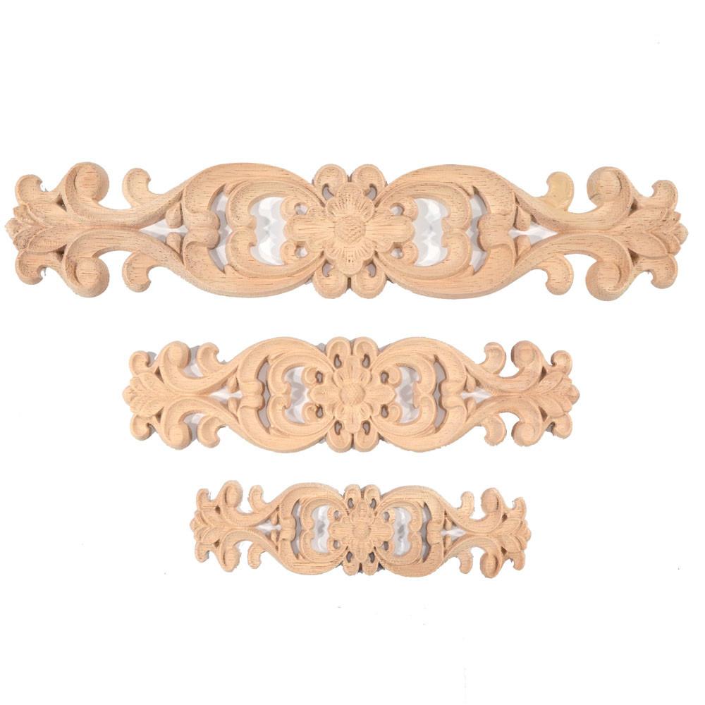 Tenká dřevěná noha nábytku tvar trapézu