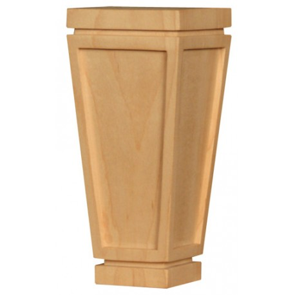 Trapezoid shape wooden furniture feet