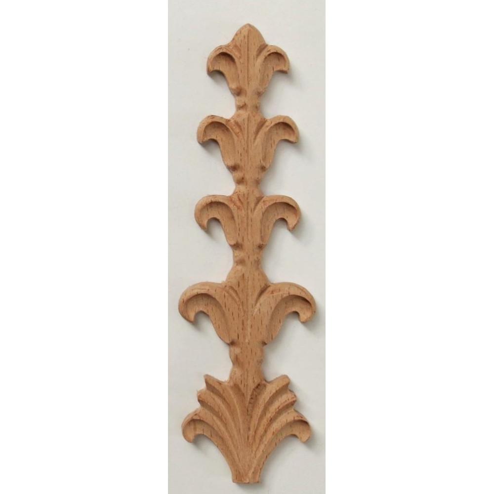 Vyřezávaná dřevěná lišta, furnier