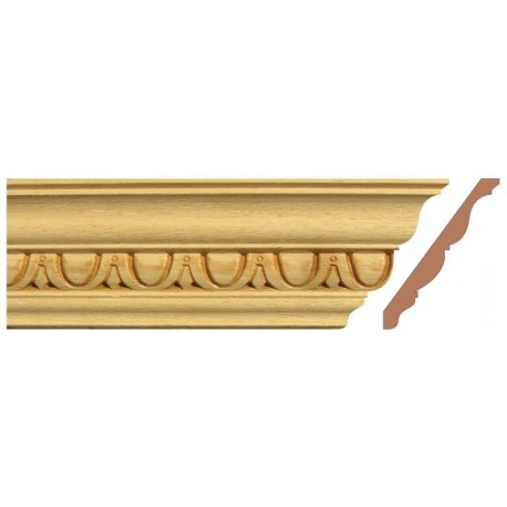 Curved molding ogee,  decorative cabinet molding