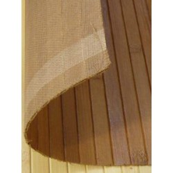 Bamboo cladding glued on textil bearer