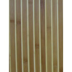 Bamboo paneling from brown and natural colour slats