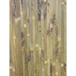 Natural bamboo covering for wainscoting wall paneling