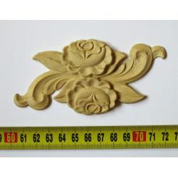 Textilre ragasztott külső héjj barna bambusz falvédő
