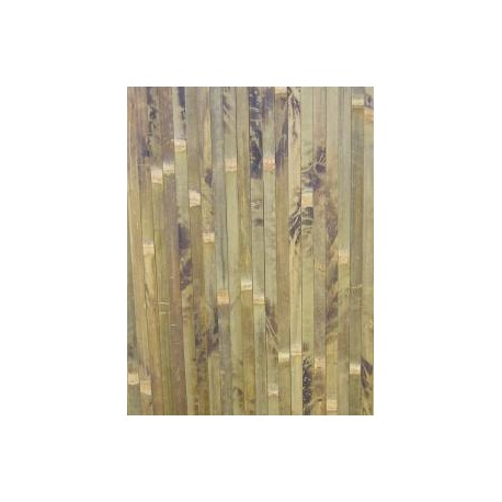 Brown bamboo covering with natural black pattern