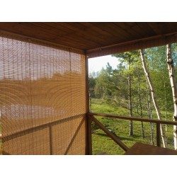 Outdoor bamboo blind as shading