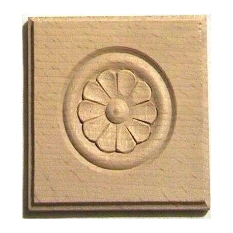 Carved wood rosette, ornament