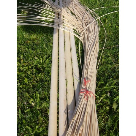 Round reed basket weaving material for DIY projects