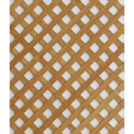 Carbonized brown bamboo trellis for decorative radiator panels