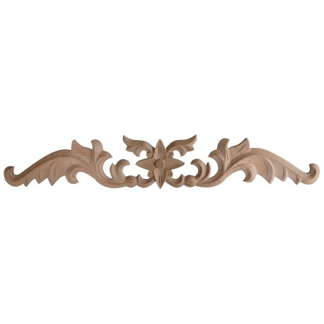 Acanthus leafy wooden ornament