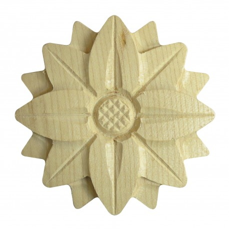 Rosette from hardwod, ornament