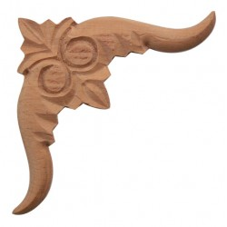 Carved wooden corner applique