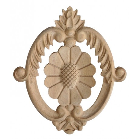 Carved ornament, rosette