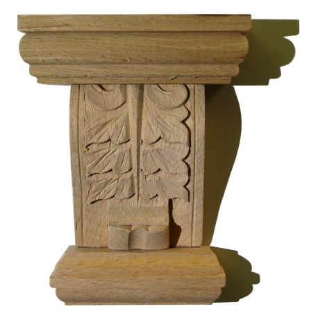carved capital, wood carving onlays