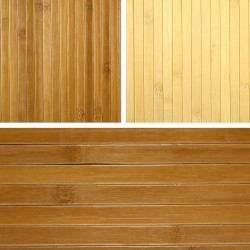 Bamboo wall covering and bamboo panelling with textile back