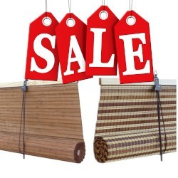 Extra wide and large bamboo blinds